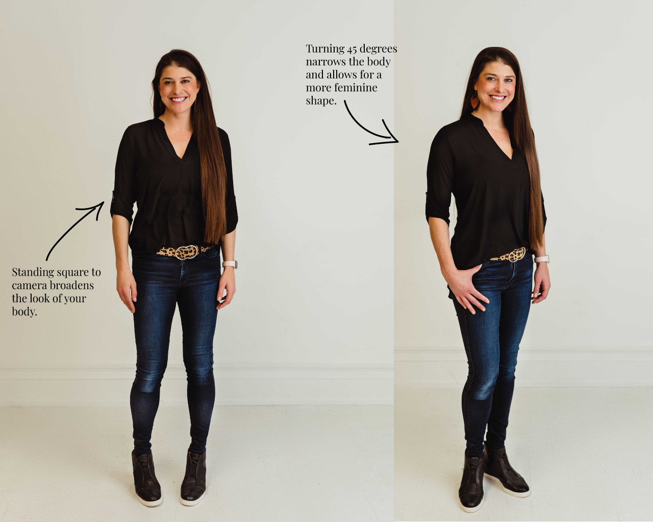 how to pose: 7 ways to look better on camera instantly
