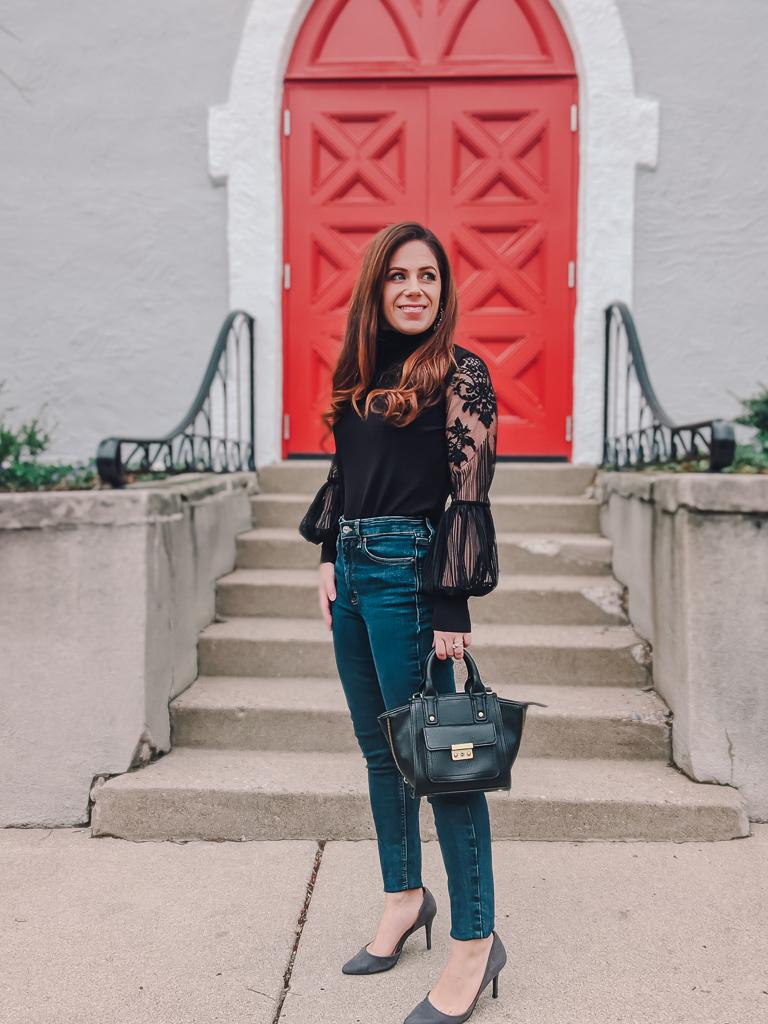 3 ways to style a lantern sleeve blouse