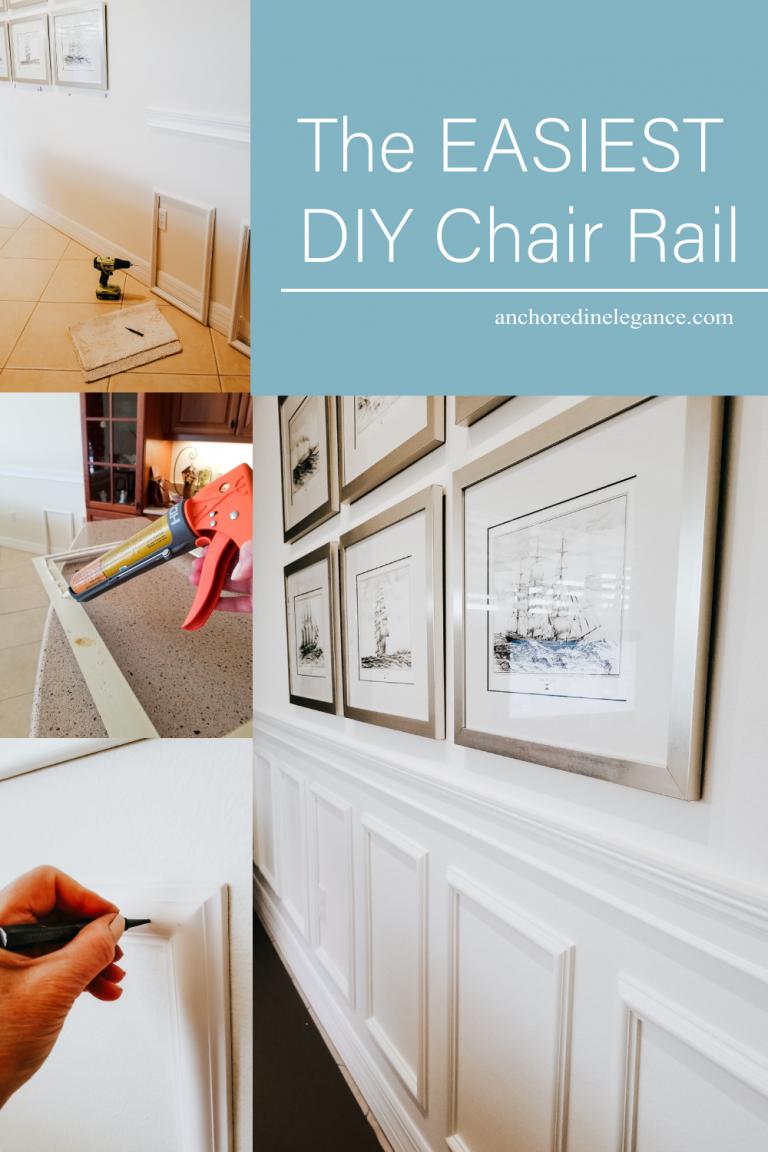 the easiest diy chair rail